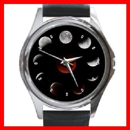 LUNAR MOON ECLIPSE Round Metal Wrist Watch Unisex 136