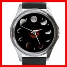 LUNAR MOON ECLIPSE Round Metal Wrist Watch Unisex 136