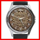 AZTEC Art Ancient History Round Metal Wrist Watch Unisex 137