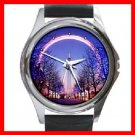 British Airways London Eye at Dusk Round Metal Wrist Watch Unisex 140