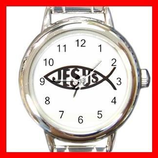 Christian Jesus Fish Round Charm Wrist Watch New!!!
