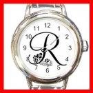 """MONOGRAM """"R"""" Round Charm Wrist Watch Alphabet Letter"""