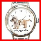 Cute Dandie Dinmont Terrier Pet Dog Animal Round Italian Charm Wrist Watch