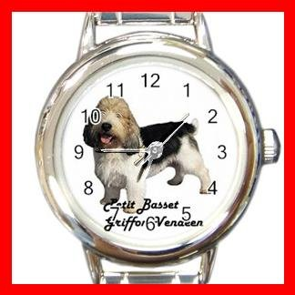 Cute Petit Basset Griffon Vendeen Pet Dog Animal Round Italian Charm Wrist Watch 504