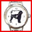 Cute Portuguese Water Pet Dog Animal Round Italian Charm Wrist Watch 507