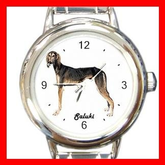 Cute Saluki Pet Dog Animal Round Italian Charm Wrist Watch 508