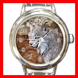 Wild Canadian Lynx Animals Italian Round Charm Watch 510