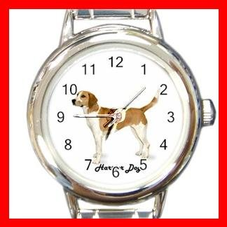 Cute Harrier Pet Dog Animal Round Italian Charm Wrist Watch 511