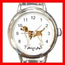 Cute Harrier Pet Dog Animal Round Italian Charm Wrist Watch 511