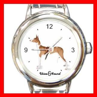 Cute Ibizan Hound Pet Dog Animal Round Italian Charm Wrist Watch 512