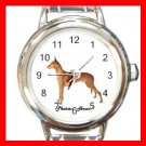 Cute Pharaoh Hound Pet Dog Animal Round Italian Charm Wrist Watch 518