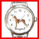 Cute Pharaoh Hound Pet Dog Animal Round Italian Charm Wrist Watch 518
