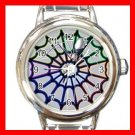 The Spider Web Halloween Round Italian Charm Wrist Watch 520