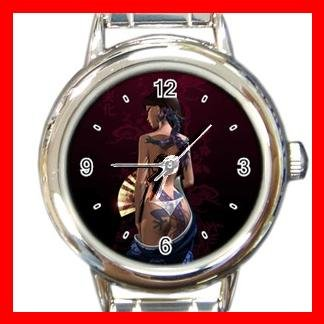 Dragon Lady Asia Myth Round Italian Charm Wrist Watch 526