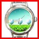 Golf Ball Sports Game Hobby Round Italian Charm Wrist Watch 528