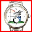Golf Sports Game Hobby Fun Round Italian Charm Wrist Watch 529