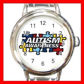 AUTISM Awareness Health Kids Round Italian Charm Wrist Watch 531