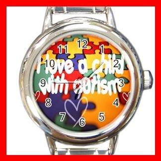 AUTISM Awareness Health Kids Round Italian Charm Wrist Watch 532