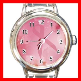BREAST CANCER Health Round Italian Charm Wrist Watch 536