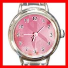 BREAST CANCER Health Round Italian Charm Wrist Watch 536