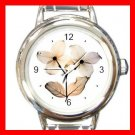 Dogwood Flowers Round Italian Charm Wrist Watch 549