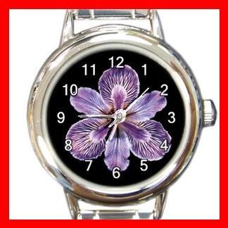 Tiger Iris Flowers Round Italian Charm Wrist Watch 551