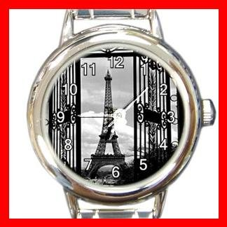 Eiffel Tower Paris Round Italian Charm Wrist Watch 568
