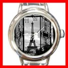 Eiffel Tower Paris Round Italian Charm Wrist Watch 568