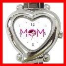 MOM Love Mother Heart Italian Charm Wrist Watch 151