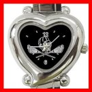 Lacrosse Sticks Sports Game Heart Italian Charm Wrist Watch 156