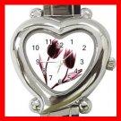Tulips Flowers Heart Italian Charm Wrist Watch 168