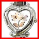 Dogwood Flowers Heart Italian Charm Wrist Watch 169