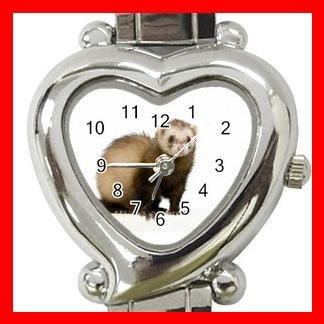 Cute Ferret Pet Animals Heart Italian Charm Wrist Watch 172