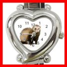 Cute Ferret Pet Animals Heart Italian Charm Wrist Watch 172