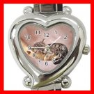 Kitten Sleeping Cat Pet Heart Italian Charm Wrist Watch 175