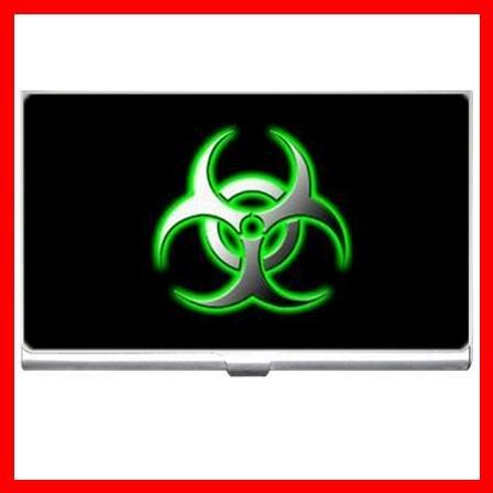 Biohazard Bio Hazard Green Business Credit Card Case 02