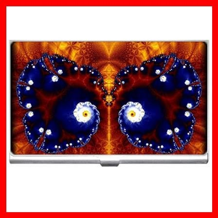 Fractal Butterfly Fly Hobby Business Credit Card Case 08