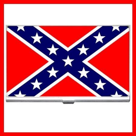 Rebel Confederate Flag Business Credit Card Case 15
