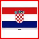 Croatia Flag Nation Patriotic Hobby Business Credit Card Case 21