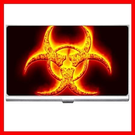 Biohazard Bio Hazard Golden Business Credit Card Case 28