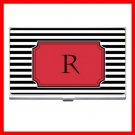 "MONOGRAM ""R"" Letter Hobby Business Credit Card Case 70"