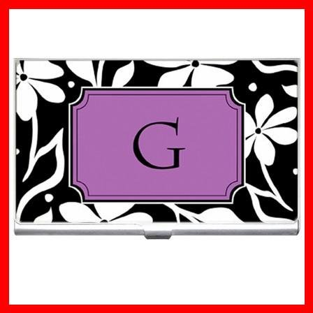 """Name Initials Letter """"G"""" Hobby Business Credit Card Case 76"""
