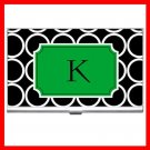 "Name Initials Letter ""K"" Hobby Business Credit Card Case 80"