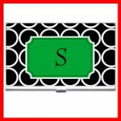 "Name Initials Letter ""S"" Hobby Business Credit Card Case 86"