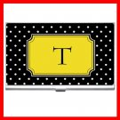 "Name Initials Letter ""T"" Hobby Business Credit Card Case 87"