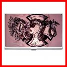 Pink Cross Sign Dragon Hobby Business Credit Card Case 94
