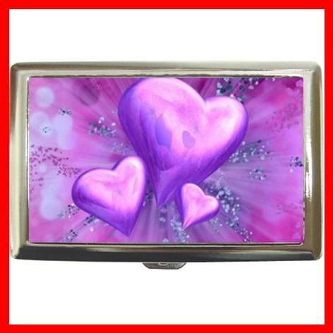 Purple Heart Love Cigarette Money Case 035