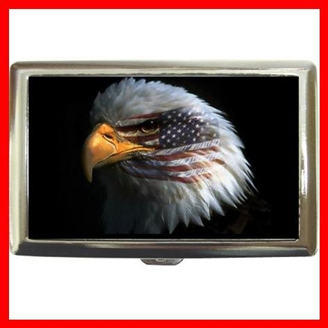 Eagle Eye American Flag Hobby Cigarette Money Case 039