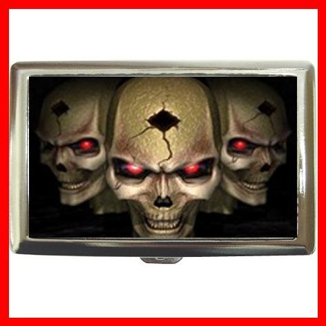 Cool Skull Skulls Hobby Cigarette Money Case 042