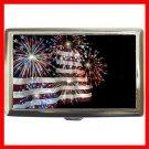 Fireworks American Flag Hobby Cigarette Money Case 044